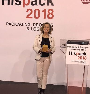 Bottelo receives the Liderpack 2017 award at the Hispack Fair in Barcelona