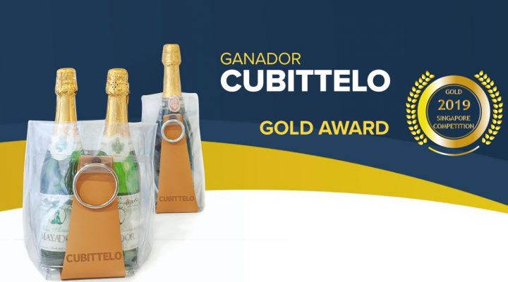Cubittelo ganadora del Gold Award Singapore Newspaper